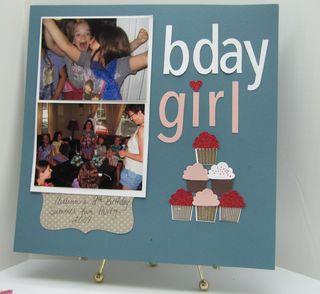 Build a Cupcake Scrapbook Page